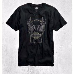 Camiseta Harley Davidson Black Wings Original E Nova!