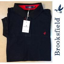 Camisa Polo Brooksfield Lisa Azul Marinho