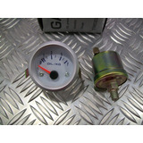 Reloj Presion De Aceite Electrico Con Valvula (fondo Blanco)