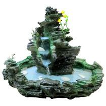 Fonte De Água Feng Shui Cascata Pedra