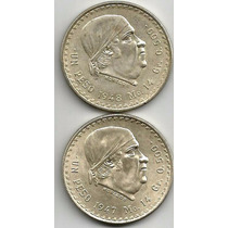 Peso Cacheton 1947-1948 Los 2 Por $200.00