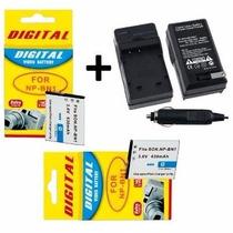 Kit Duas Baterias Np-bn1 + Um Carregador Para Sony Dsc-w830