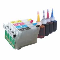 Kit Cartucho Recarregável Xp214 Xp204 Xp201 Xp401 Xp + 140ml