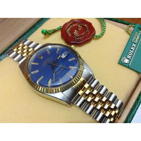 Rolex Datejust Acero Oro Md 16013 Mica Cambio Rapido Subma