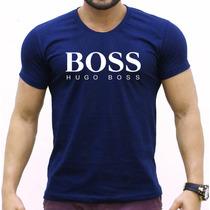 Camisa Rosa Masculina Hugo Boss - Gola Careca Várias Cores