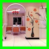 Flores Vaso 3d Plastico Adesivos Decorativo Papel Parede