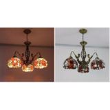 Lámpara Techo Colgante Tipo Tiffany D081015-3-1