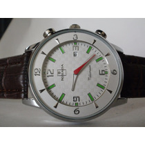 Elegante Reloj Nivada ,caballero,fechador! Y Reloj Gratis !!