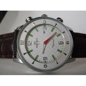 Elegante Reloj Nivada ,fechador !!! Envio Y Reloj Gratis !!