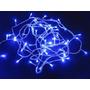 Enfeite Natalino Pisca 100 Led Azul 9 Metros 8 Funções 110v