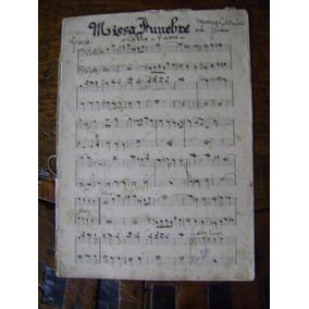Missa Funebre Cello Basso G. F. Foschini Orch J.lima 1924