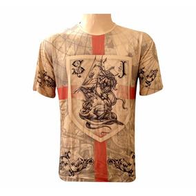 Camiseta São Jorge Brasão Orixá Ogum Masculina