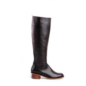 Natacha Zapato Mujer Bota De Montar Cuero Negro #221