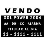 Calco Vendo Auto - X3 Unidades - 17x12cm - Zona Sur