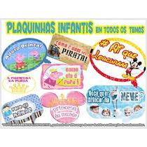 Kit 20 Plaquinhas Personalizadas Temas Infantis
