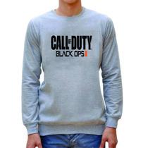 Blusa Moleton Call Of Duty Black Ops 2 Cinza