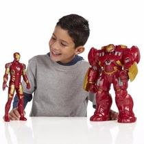 2 Bonecos Vingadores Hulkbluster,homem Ferro I C/som 30cm
