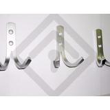 Ganchos Doble Percheros Kit Por 3 Unid.aluminio Anonizado