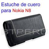 Estuche Cuero Funda Nokia N8 Protector Importado Para Correa