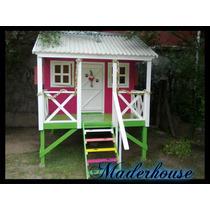 Casita Para Chicos Infantil De Madera M4 Maderhouse