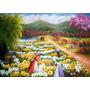 Quadro, Pintura Em Tela -colheita De Flores 197