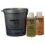 Kit Salon Line Extra Relaxer Guanidina Cabelos Médios Finos