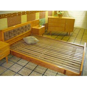 Dorm Compl Cama Antigu Restaurado Nuevo Capitone Hay Luis Xv