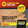 Placa Fenólico Pino C+/c+ 18mm 1,22 X 2,44 Dos Caras Buenas