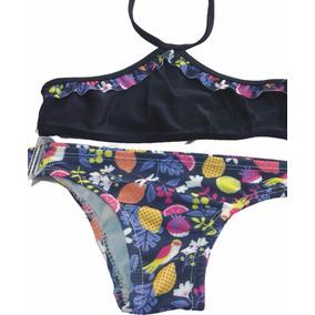 Malla Dos Piezas-bikini Nenas Talle 2 A 8