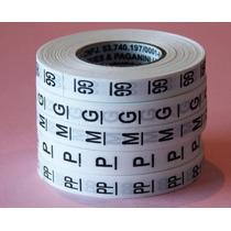 10.000 Etiquetas Roupa Nylon 5 Rolos Números E Letras