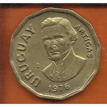 Moeda Uruguai 1 Nuevo Peso 1976 Artigas 28mm