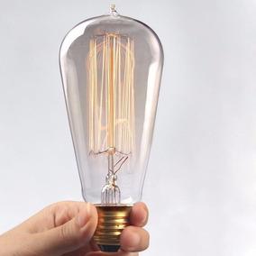 Lampada Filamento Carbono Retrô Vintage 40w - Modelo Pera