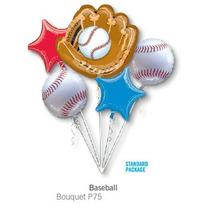 Oferta!! Bouquet De 5 Globo Beisbol , Envío Barato