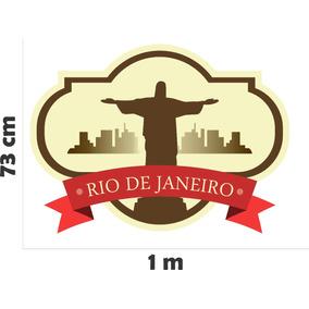 519cb8c30e2 Adesivo Parede Cidade Rio De Janeiro Brasil Cristo Redentor