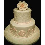 Torta 15 Años Casamiento Aniversario Bautismo Elegante