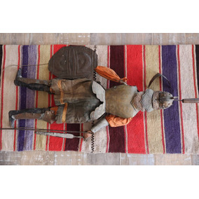 Antigua Marioneta Sigloxix Caballero C/armadura 150x100