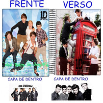 Caderno One Direction Personalizado 10 Materias 200fs Mod 04