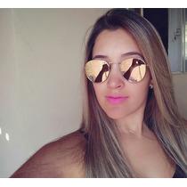 Óculos Feminino Espelhado Oval Redondo Verão 2017