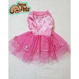 Oferta! Vestido Fiesta Mascotas Rosado Talla 0, 1, 2, 3
