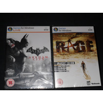 Rage Y Batman Arkham City-- Pc Original Formato Fisico