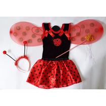 Fantasia Infantil De Joaninha - Carnaval Festas Aniversário