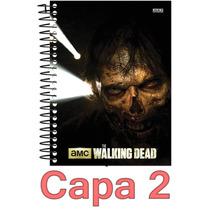 Caderno The Walking Dead 1 Materia 96 Folhas Escolha Capa