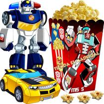 Kit Imprimible Transformers Rescue Bots Cumple Cotillon