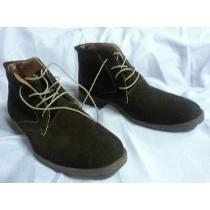 Zapatos Hombre Botin Cuero Volteado Café T38
