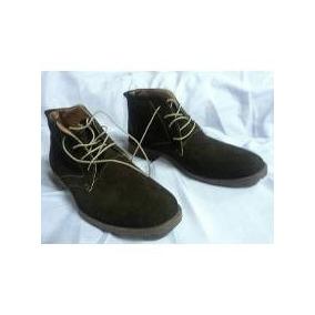 Zapatos Hombre Botin Cuero Volteado Café T42