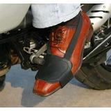 Protector De Calzado P/ Moticiclistas.doble Cuero Bajo Pie