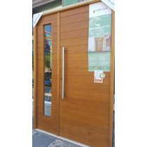 Puerta Y Media Madera Oblak 2331 + Lateral De Abrir! 140 Cm