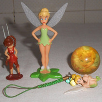Sininho Tinker Bell Lote Variado Miniatura Pingente Fadinha