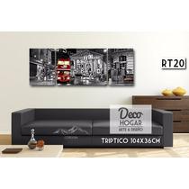 Cuadro Reloj De Pared 110x52cm, Moderno Living Cocina Deco