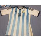 Camisa Argentina Copa 2014 Original Tam.especial Ggg 2xl Xxl